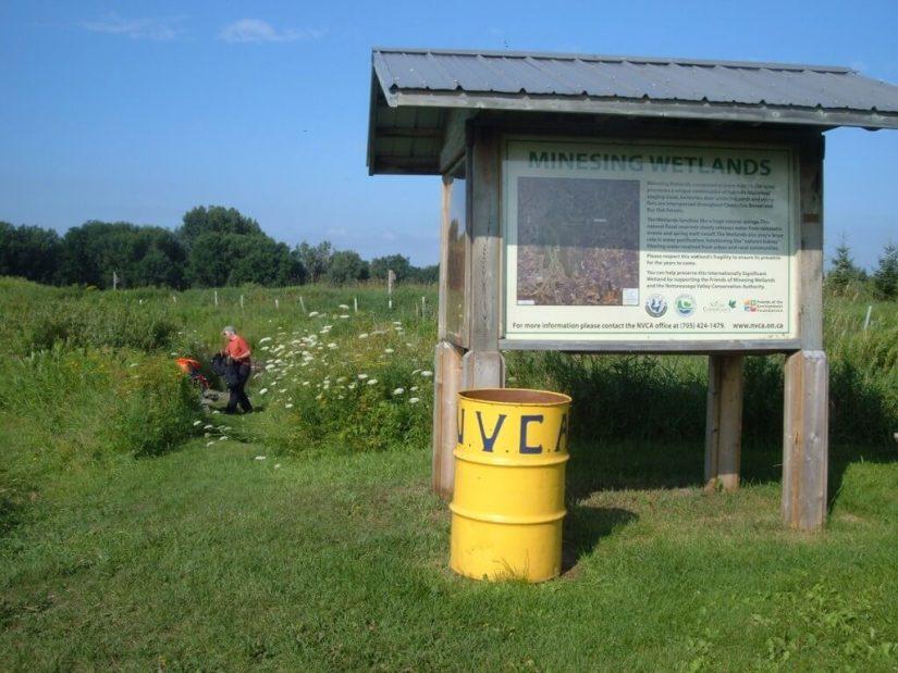 minesing wetlands sign, ontario