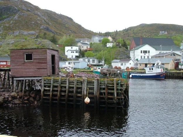 village harbour in newfoundland in canada