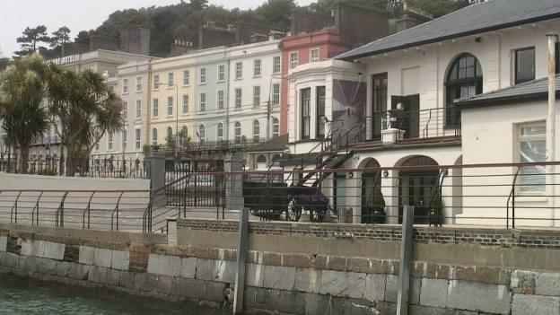 White Star Line dock, titanic experience, cobh town, county cork, ireland