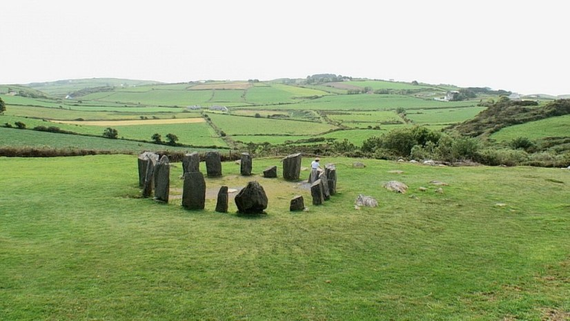 An image of the Drombeg Stone Circle on the side of a hill in County Cork, Ireland. Photography by Frame To Frame - Bob and Jean