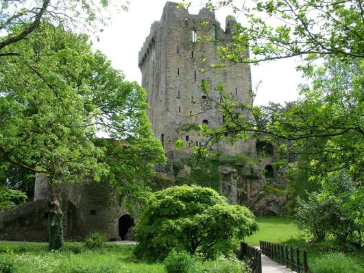 north wall of blarney castle, county cork, ireland