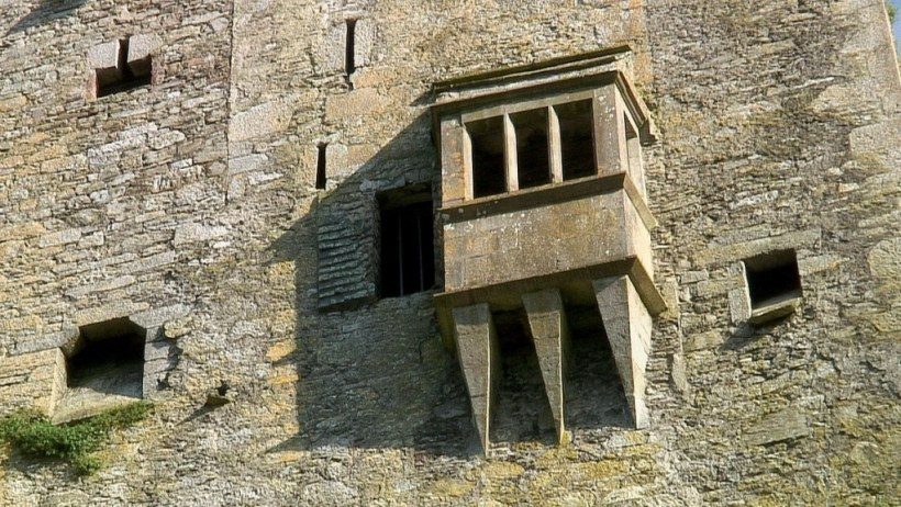 An image of a blacony in the wall of Blarney Castle near Cork in Ireland. Photography by Frame To Frame - Bob and Jean.