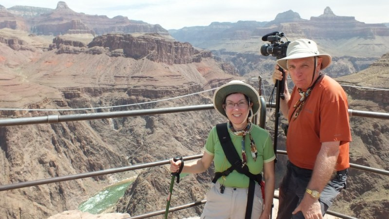 bob & jean above colorado river, grand canyon
