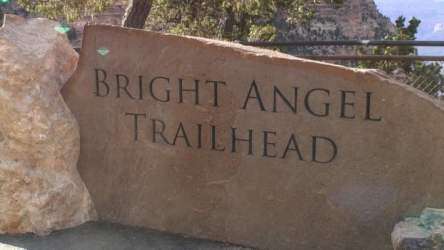 bright angel trail sign 2aa