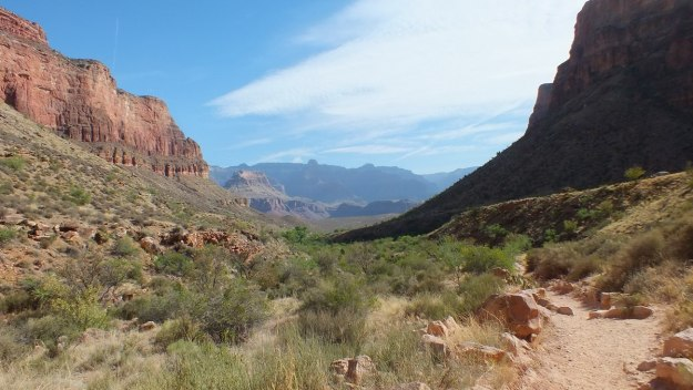 bright angel trail to indian garden - grand canyon