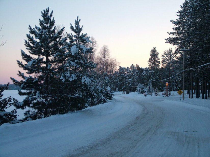 winter at oxtongue lake - ontario