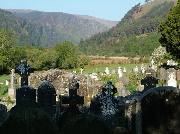 Glendalough graveyard and Wicklow Mountains - Ireland