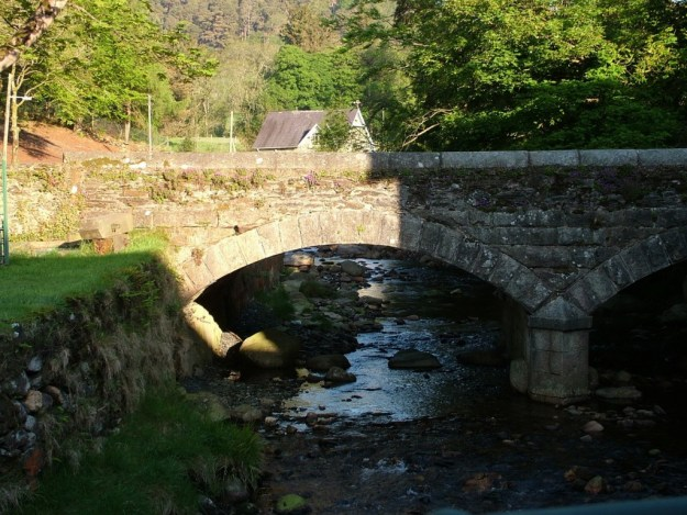 Glendalough stone bridge - Wicklow Mountains - Ireland