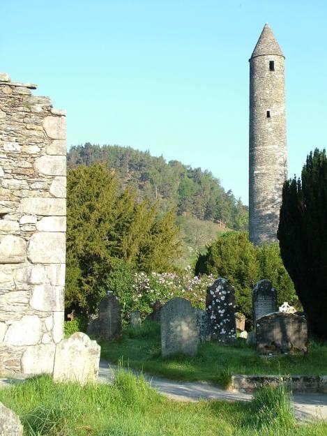 The Round Tower - at Glendalough - Ireland