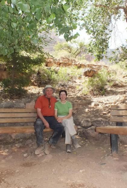 bob and jean at indian garden, grand canyon 2