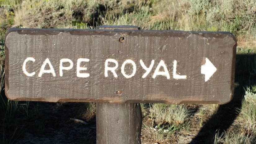 cape royal sign grand canyon