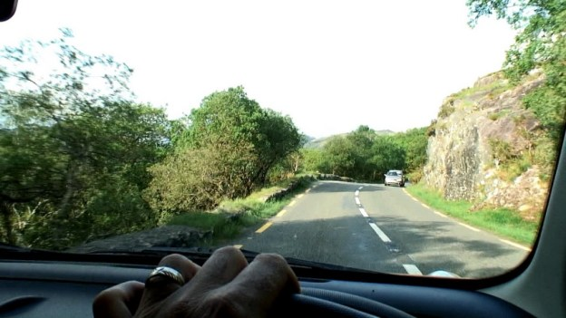 driving in killarney national park, ireland