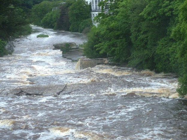 Inagh river in Ennistymon, County Clare, Ireland