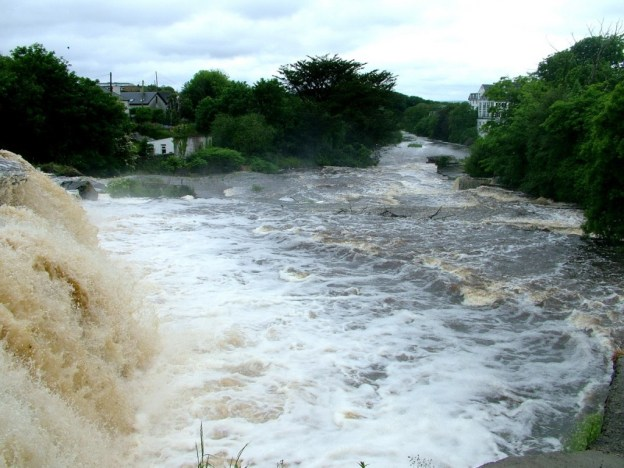 The Cascades waterfalls and river in Ennistymon, County Clare, Ireland