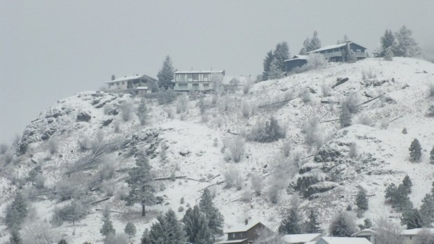 kamloops hillside in winter - british columbia