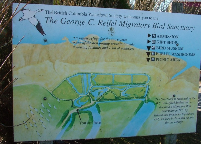reifel migratory bird sanctuary sign