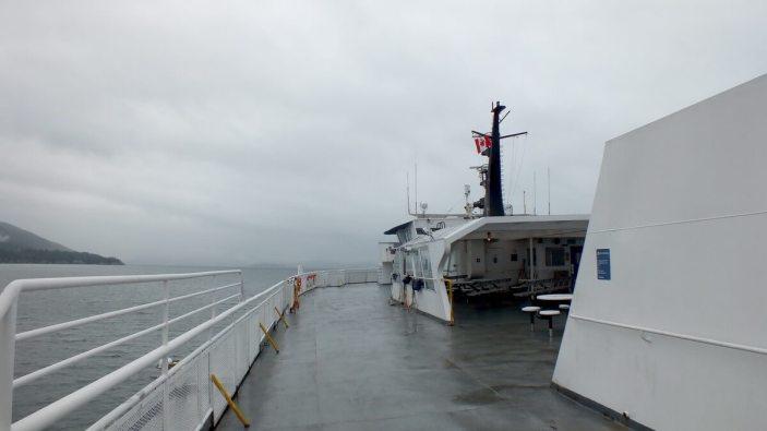 BC ferry off BC coastline