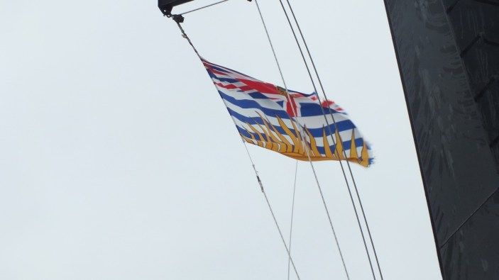 BC flag flying aboard BC ferry