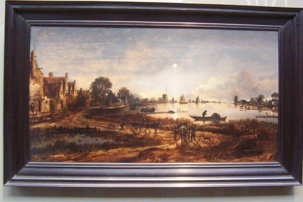 art work in rijksmuseum - amsterdam
