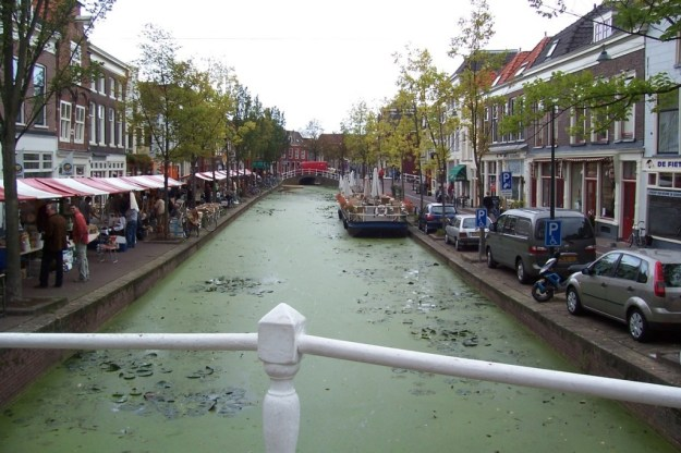 canal in delft - the netherlands
