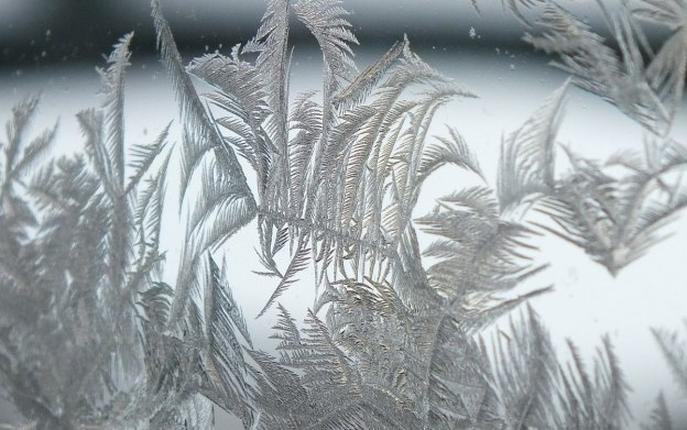 frost forms on a window pane - toronto 13