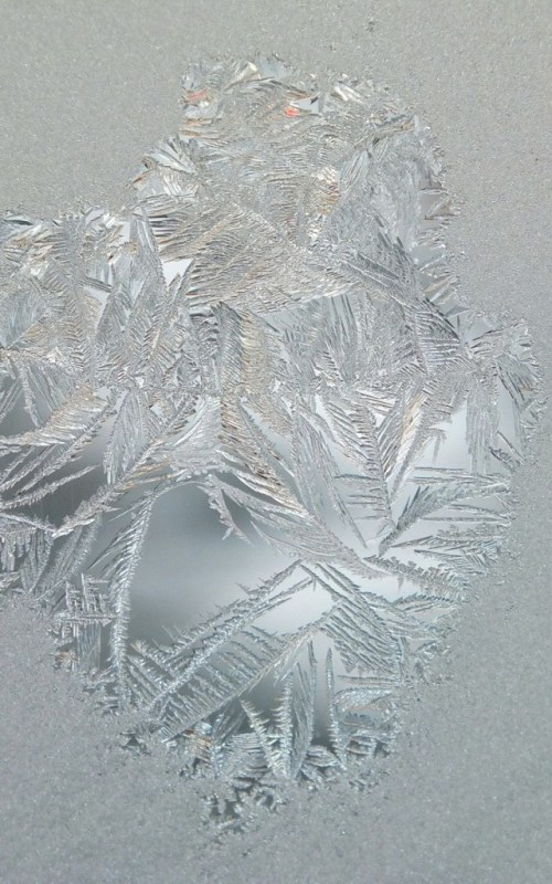 frost forms on a window pane - toronto 9
