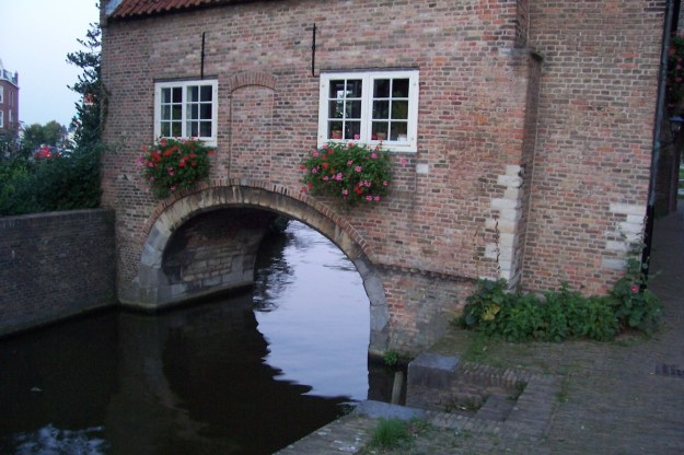 house in the Oostpoort - east gate - delft - netherlands
