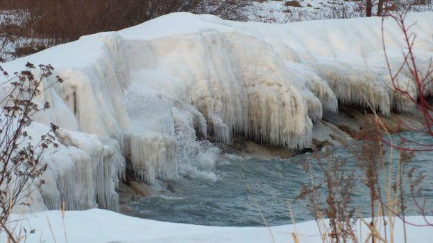icy along lake ontario shoreline - toronto - ontario
