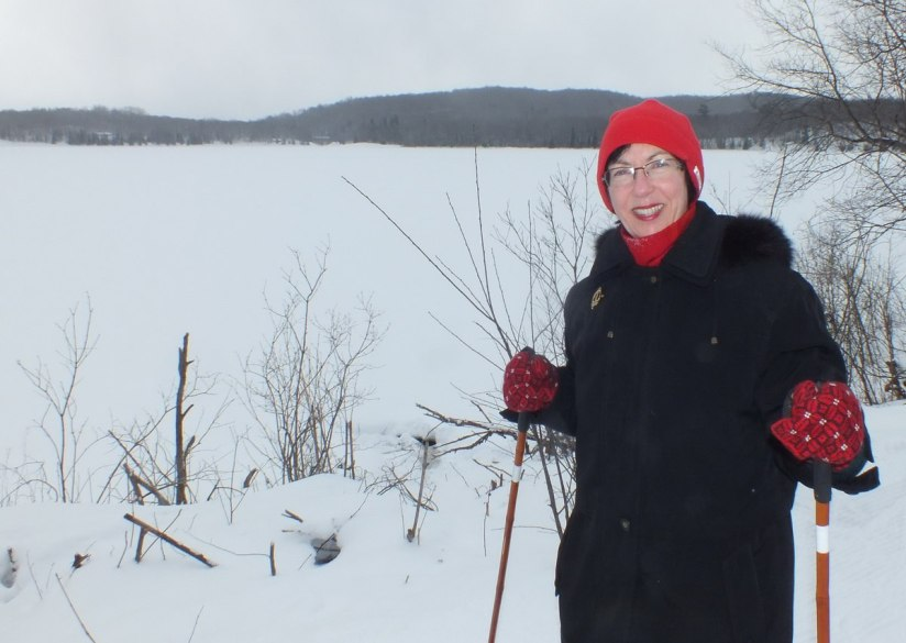 jean at arrowhead lake - winter time - Arrowhead provincial park - ontario