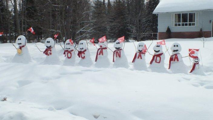 olympic snowmen - huntsville ontario 7