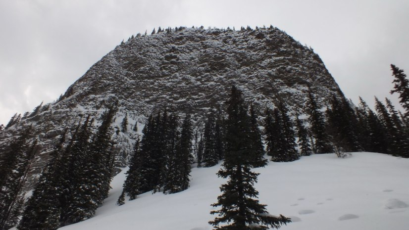Big Beehive Mountain on the Lake Agnes Trail in Banff National Park, in Alberta, Canada