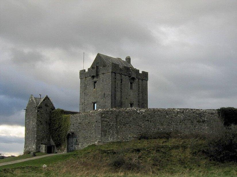 Dunguaire Castle dark sky above - ireland