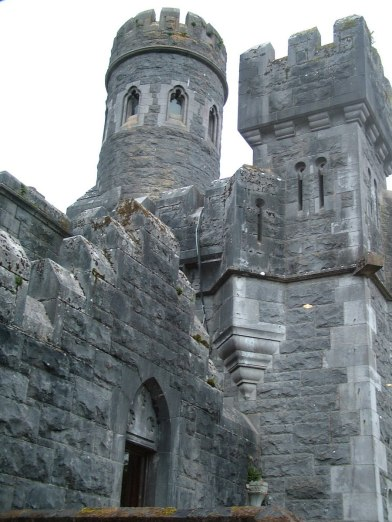 An image of the walls and towers at Ashford Castle in County Mayo, Ireland. Photography by Frame To Frame - Bob and Jean.