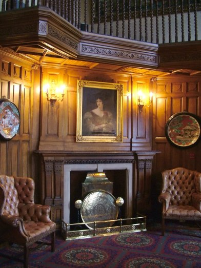 An image of a fireplace inside Ashford Castle in County Mayo in Ireland. Photography by Frame To Frame - Bob and Jean.