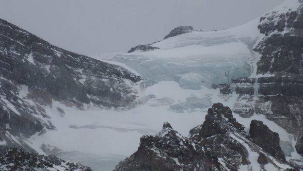 Massive glacier on Mount Aberdeen in Banff National Park, in Alberta, Canada