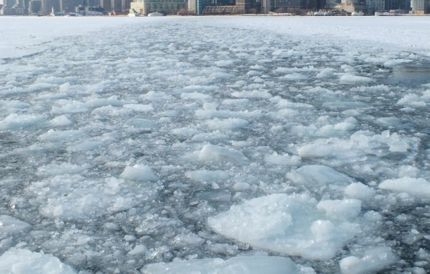 ice in toronto harbour