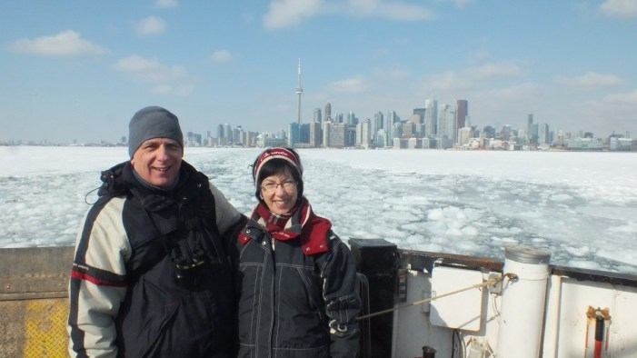 jean and bob ferry crossing frozen toronto harbour
