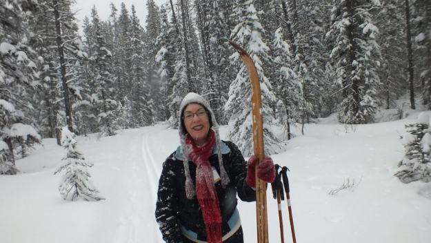 jean on the pipestone ski trail in winter - banff national park 2