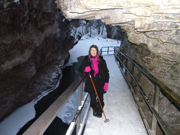 johnston canyon in winter - banff 4