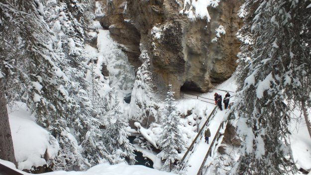 johnston canyon in winter - banff 6