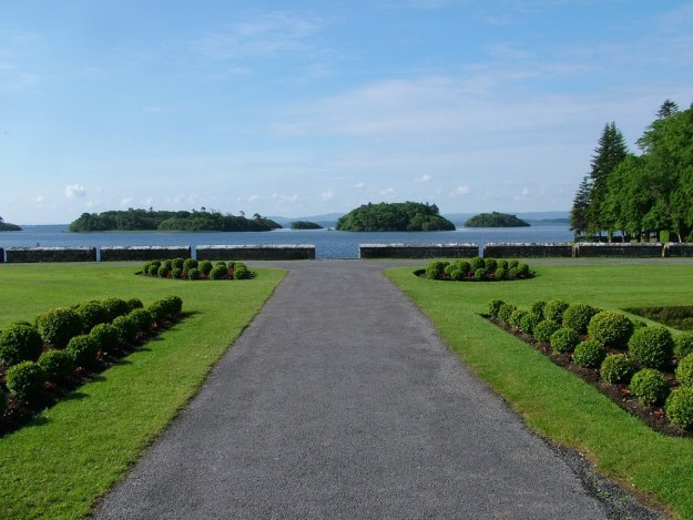 An image of a walkway to Lake Corrib at Ashford Castle in County Mayo, Ireland. Photography by Frame To Frame - Bob and Jean.