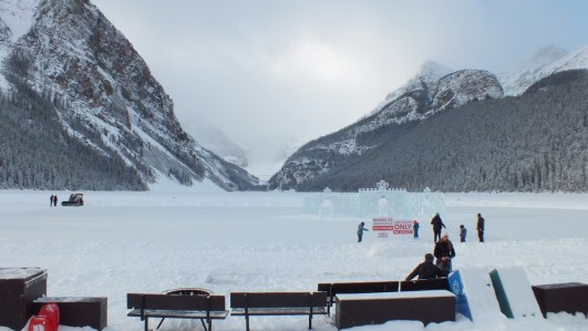 lake louise skating rink and ice castle - 2014