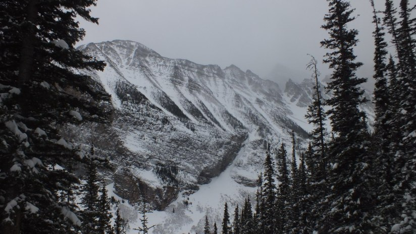 Snow covered mountains at Banff National Park, in Alberta, Canada