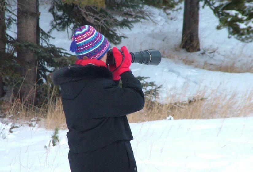photographing near lake louise