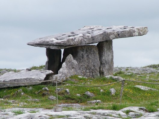 poulnabrone dolmen in the burren - county clare - ireland 2