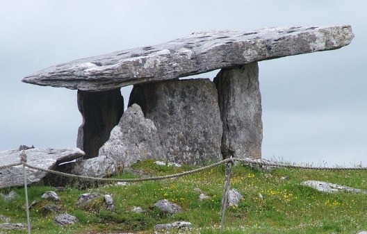 Poulnabrone Dolmen on the Burren in County Clare in Ireland