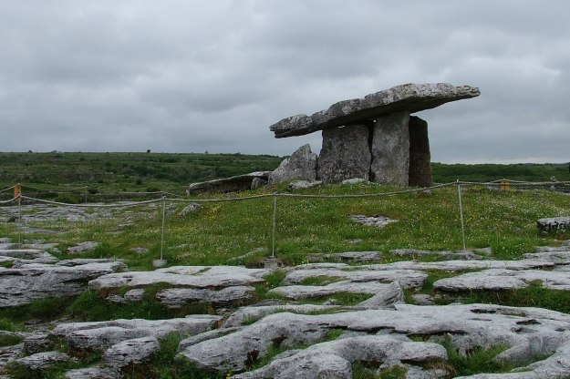 An image of the Poulnabrone Dolmen on the Burren in County Clare in Ireland.   Photography by Frame To Frame - Bob and Jean.
