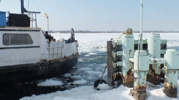 toronto ferry arrives at ward's island