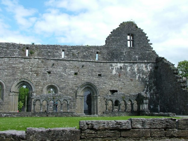 An image of the ruins of the Gothic Chapter House at the Royal Abbey of Cong in Cong, County Mayo, Ireland. Photography by Frame To Frame - Bob and Jean.