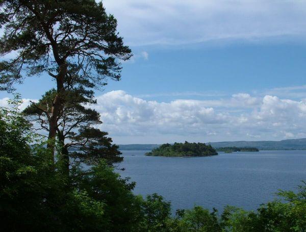 islands on Lough Corrib in County Mayo - ireland